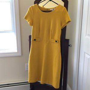 Boden mid-century dress in mustard. US 6 Regular.